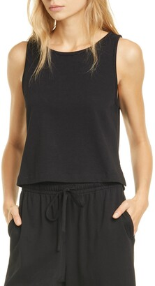 Vince Crop Swing Cotton Tank Top