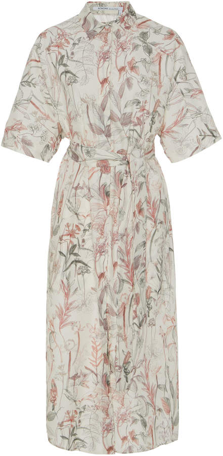 Agnona Floral Shirt Dress