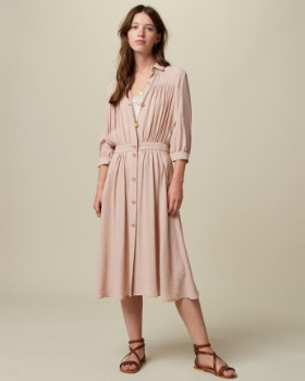 Sessun Rosewater Jeannette Midi Dress - m