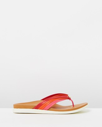 Vionic Women's Red All thongs - Catalina Toe Post Sandals - Size One Size, 6 at The Iconic