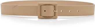 Andersons Skinny Square Buckle Leather Belt