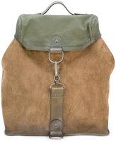 Maison Margiela colour block backpack - men - Cotton/Calf Leather - One Size