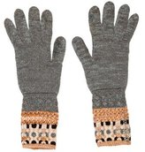 Missoni Metallic Knit Gloves