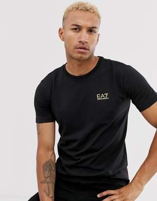 Giorgio Armani Ea7 EA7 Train Core ID slim fit gold logo t-shirt in black