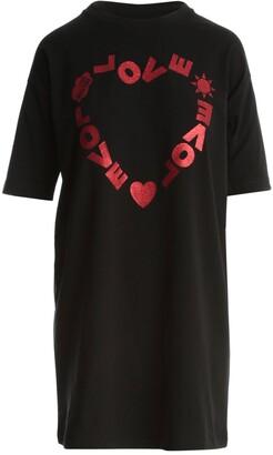 Love Moschino Logo Print T-Shirt Dress