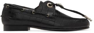 Toga Pulla Black Croc Concho Loafers
