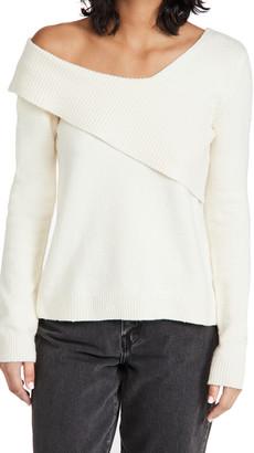 525 Fold Over One Shoulder Sweater