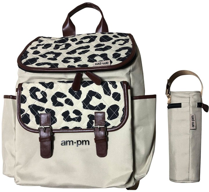 My Babiie Ampm By Christina Milian Leopard Backpack Changing Bag