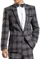 MYS Men's Big Grid Suit and Pants Set Party Tuxedo Size Custom Made