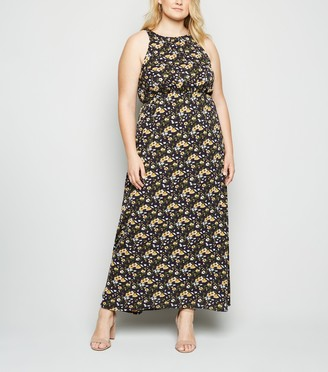 New Look Mela Curves Floral Maxi Dress