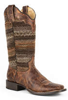 Roper Brown Vintage Vamp Cowboy Boot