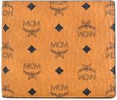 MCM logo print billfold wallet
