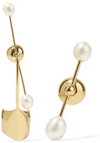 Ellery Cloud Nine Gold-plated Pearl Earrings - one size