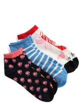 Kate Spade 3-Pack Lobster Love No-Show Socks