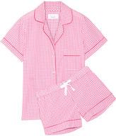 Three J NYC Eloise Gingham Cotton-poplin Pajama Set - Pink