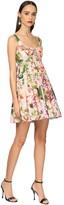 Dolce & Gabbana Flower Print Cotton Poplin Mini Dress