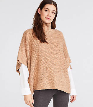 Lou & Grey Loopy Poncho Sweater
