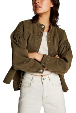 Cotton On Pintuck Utility Bomber Jacket