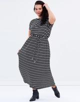 Jersey Cold Shoulder Maxi Dress