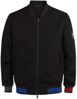 Fendi Black Neoprene Bomber Jacket