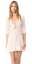 For Love & Lemons Nostalgic Tie Front Dress