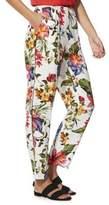 F&F Floral Crepe Elastic Waist Trousers 14