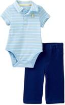 Little Me Bear Polo Pant Set (Baby Boys)