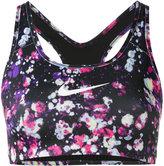 Nike logo print cropped top - women - Polyester/Spandex/Elastane - XS