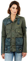 True Religion Womens Mixed Military Jacket
