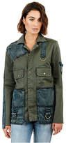 True Religion Womens Mixed Military Jacket