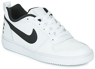 Nike COURT BOROUGH LOW GRADE SCHOOL girls's Shoes (Trainers) in White