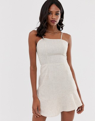 UNIQUE21 ruffle hem cami dress