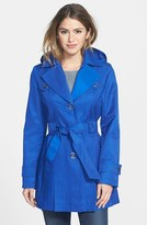 Via Spiga Petite Women's 'Scarpa' Single Breasted Hooded Trench