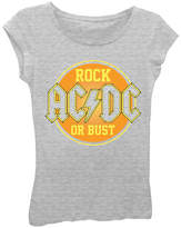 Asstd National Brand AC/DC Girls' Rock or Bust Short Sleeve Graphic T-Shirt with Crystalline