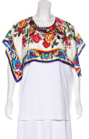 Dolce & Gabbana Sleeveless Printed Top w/ Tags