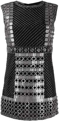 Alberta Ferretti beaded mini dress
