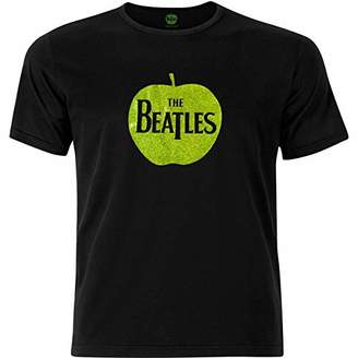 The Beatles Men's Apple with Sparkle Gel Applicatio T-Shirt