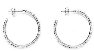 Agnes de Verneuil Hoop Earrings With Pearls - Silver