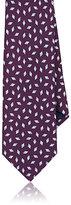 Barneys New York Men's Rhombus-Pattern Silk Twill Necktie-PURPLE
