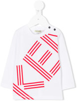 Kenzo long-sleeved branded top - kids - Cotton - 3 mth