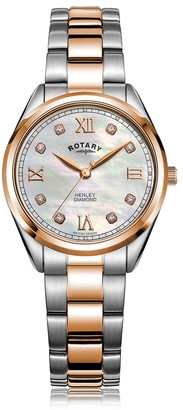 Rotary Watches Rotary Henley Two Tone Rose Gold Pvd Watch