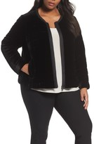 Eileen Fisher Plus Size Women's Quilted Velvet Jacket