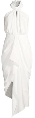 Significant Other Calypso Draped Halter Dress