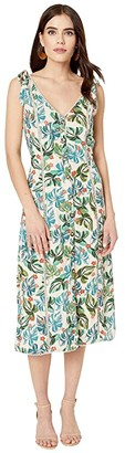 Lost + Wander Luau On The Beach Midi Dress (Nude) Women's Clothing