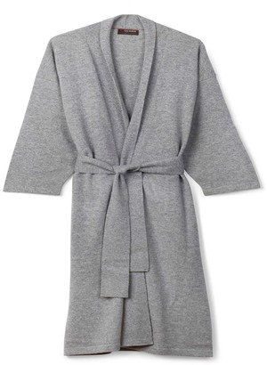 Oyuna Legere Cashmere Dressing Gown In Soft Grey