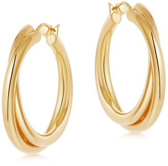 Missoma Lucy Williams Gold Entwine Hoop Earrings