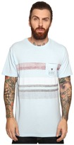 VISSLA Kooktown Reverse Printed Short Sleeve Pocket Crew Knit