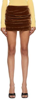 Georgia Alice Brown Velvet Miniskirt