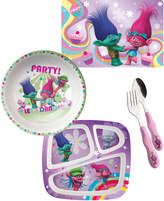 Zak Designs Trolls Five-Piece Dinnerware Set