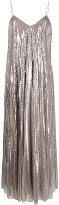 Fabiana Filippi Metallic Midi Dress